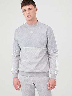 adidas-originals-outline-crew-neck-sweat-medium-grey-heathernbsp