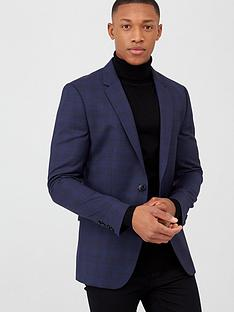 hugo-astian-slim-fit-checked-suit-jacket-blue