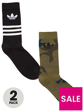 adidas-originals-camo-crew-2-pack-socks-blackcamonbsp
