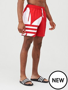 adidas-originals-big-trefoil-swim-shorts-red