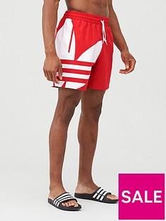 adidas-originals-big-trefoil-swim-shorts-red