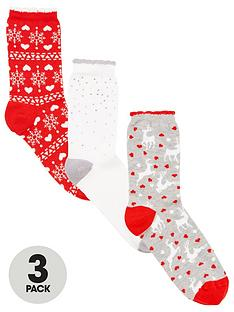 boux-avenue-3-pack-christmas-boxed-socks-red-mix