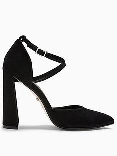 topshop-grape-flare-heel-courts-black