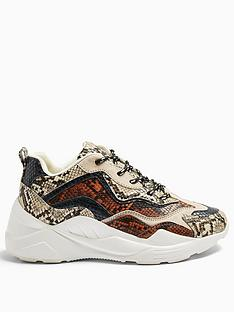 topshop-cancun-snake-print-chunky-trainers-multi
