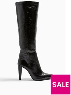 topshop-taylor-cone-heel-leather-knee-high-boots--nbspblack