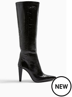 topshop-topshop-taylor-cone-heel-leather-knee-high-boots--nbspblack