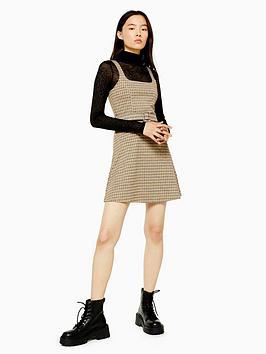 topshop-jacquard-belted-pinafore-dress-tan