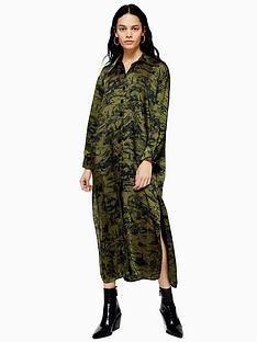 topshop-midi-shirt-dress-green