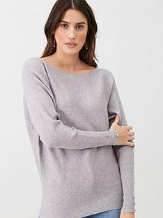 v-by-very-off-the-shoulder-knitted-jumper-grey
