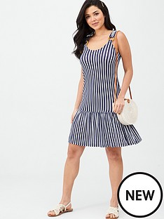 v-by-very-dropped-hem-jersey-beach-dress-stripe