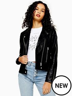 topshop-topshop-pu-classic-biker-jacket-black