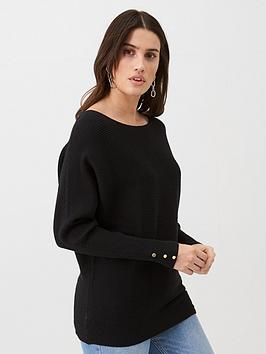 v-by-very-off-the-shoulder-knitted-jumper-black