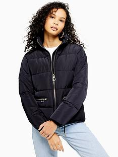 topshop-topshop-faux-fur-detachable-hood-padded-jacket-navy