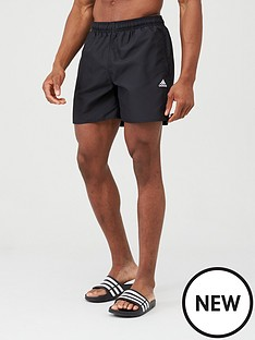 adidas-solid-swim-shorts-black