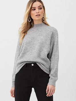 v-by-very-seam-detail-jumper-grey