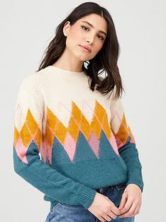 v-by-very-chevron-colour-block-jumper-multi