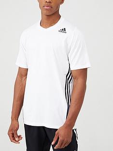 adidas-training-3-stripe-t-shirt-white