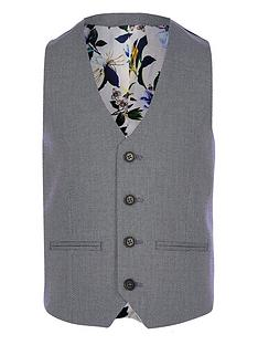river-island-boys-textured-pin-dot-suit-waistcoat-blue