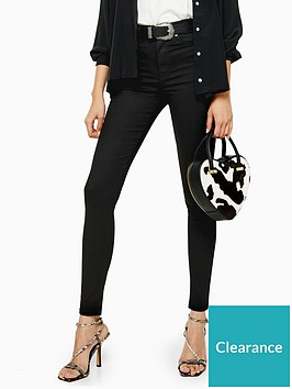 topshop-tall-black-coated-jamie-skinny-jeans-black