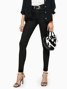 topshop-topshop-tall-black-coated-jamie-skinny-jeans-black