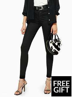 topshop-topshop-tall-black-coated-jamie-skinny-jeans-black