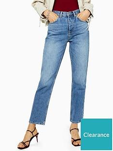 topshop-topshop-mid-blue-editor-jeans-blue