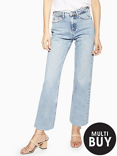 topshop-topshop-bleached-straight-jeans-blue