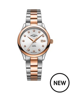 rotary-rotary-oxford-silver-sunray-diamond-set-and-rose-gold-detail-date-dial-two-tone-stainless-steel-bracelet-ladies-watch