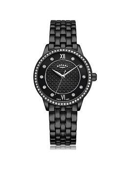 rotary-exclusive-rotary-black-textured-swarovski-set-dial-black-ip-stainless-steel-bracelet-ladies-watch