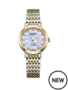 rotary-rotary-mother-of-pearl-and-gold-detail-date-dial-with-12-diamonds-and-two-tone-stainless-steel-bracelet-ladies-watch