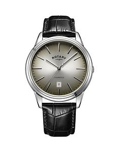 rotary-rotary-cambridge-grey-sunray-domed-glass-date-dial-black-leather-strap-mens-watch