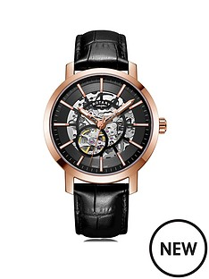 rotary-rotary-black-and-rose-gold-skeleton-automatic-dial-black-leather-strap-mens-watch