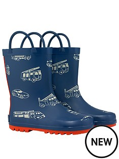 cath-kidston-boys-toy-traffic-wellington-boot-navy