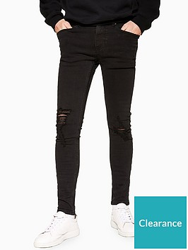 topman-topman-goldie-spray-on-jeans-black