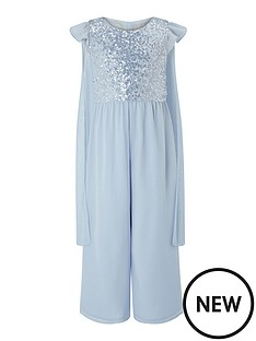 monsoon-girls-sparkle-cape-occasion-jumpsuit-blue
