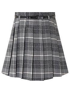 monsoon-girls-colette-check-skirt-grey