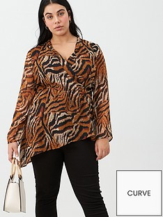 v-by-very-curve-asymmetric-wrap-top-tiger-print