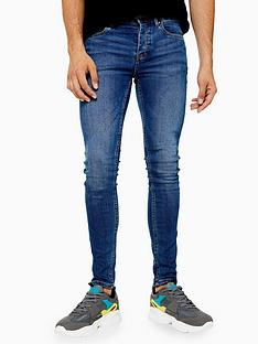 topman-topman-sandler-spray-on-jeans-blue