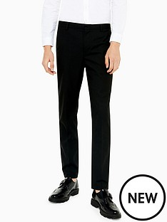 topman-topman-slim-leg-trousers-black