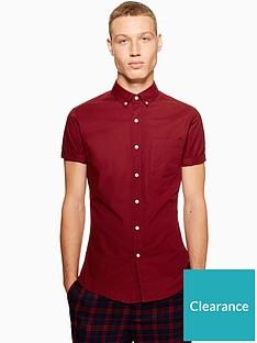 topman-topman-short-sleeve-shirt-burgundy