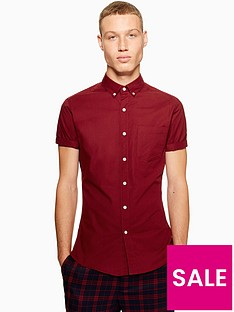 topman-topman-short-sleeve-shirt-burgundy