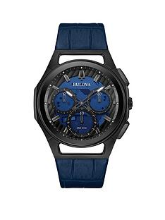 bulova-bulova-curv-blue-and-black-detail-chronograph-dial-blue-leather-strap-mens-watch
