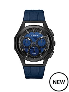 bulova-bulova-curv-blue-and-black-detail-chronograph-dial-blue-leather-strap-mens-watch