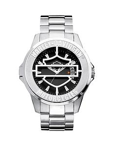 bulova-harley-davidson-by-bulova-black-and-silver-detail-dial-with-hinged-cover-stainless-steel-bracelet-mens-watch