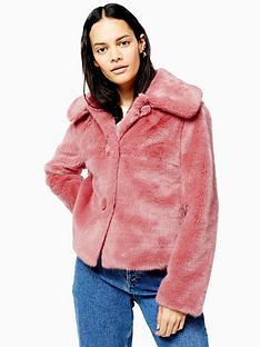 topshop-topshop-faux-fur-button-up-short-jacket