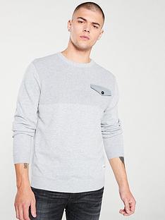 jack-jones-pocket-knit-crew-neck-jumper-light-grey-melange