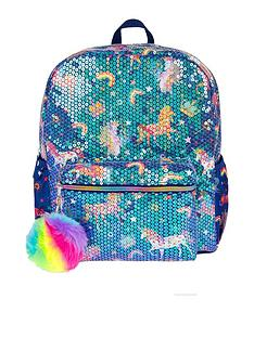 monsoon-sequin-fun-unicorn-backpack-navy
