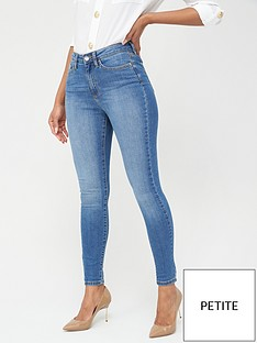 v-by-very-valuenbspshort-florence-high-rise-skinny-jeans-mid-wash