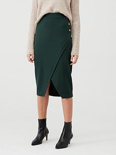 v-by-very-wrap-midi-skirt--nbspforest-greennbsp