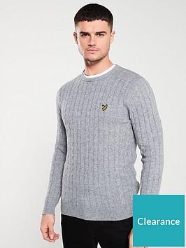 lyle-scott-cable-jumper-mid-grey-marl